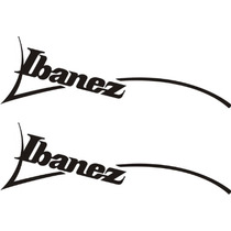 Stickers Vinil Autoadherible Ibanez Guitars Logo 25 X 7.5 Cm