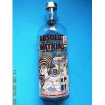 Botella Vacia De Absolut Watkins Vodka Fotos Reales