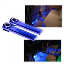4 Barras Led Azul, Piso Del Auto, Tunning, Moderno, Fdp