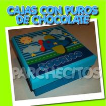 Caja De Puros De Chocolate Para Llegada Del Bebé