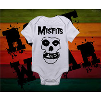 Pañalero Misfits Moda Bebe Rottwear Rock Punk