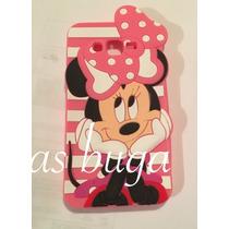 Funda Mimi Iphone 4 5 5c 6 6s Y Plus Minnie Mouse Silicon 3d