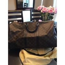 Maleta De Viaje Louis Vuitton Keepall 55 Piel 100% Original