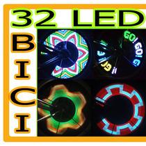 Luz Rueda Bicicleta Cambia Color 32 Led Rgb Luz Vbf