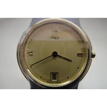Reloj Buame Y Mercier Fred Oro Acero En Buen Estado