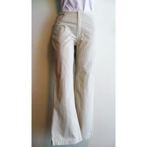 Pantalón Mezclilla Dama Algodón Weekend Talla 7 Color Hueso
