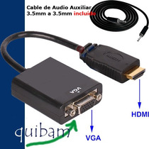 Convertidor Hdmi A Vga Audio Video Conecta Xbox Psp Ps3 A Tv