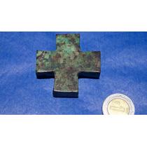 Cruz Rustica Cuadrada Antigua En Turquesa Verde Dije 129