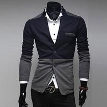 Saco Blazer Caballero Slim Fit Casual Moda Elegante Hipster