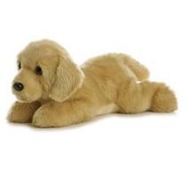 Labrador Golden Perro Flopsie Oso Peluche Aurora Importado