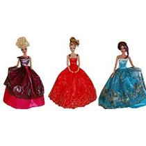 Vestidos Para Barbie - La Colección Del Cuento De Hadas (3 C