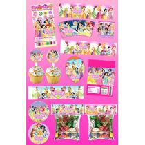 Kit Imprimible Princesas Disney Personalizado 30 Etiquetas