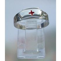 Anillo Cruz Roja Cofia Enfermera Farmacia Terapista Plata