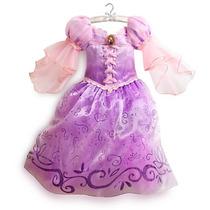 Vestido Disfraz Rapunzel Largo Original Disney Fantasilandia