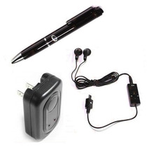 Pluma Microfono Espia Grabador Mp3 + 8gb + Cargador De Pared