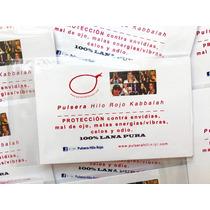4 Pulseras Hilo Rojo Kabbalah C/instr, Libro, Oracion, Envio