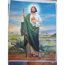 Hoja Tipo Poster Para Cuadro San Juditas Tadeo 20x25cm