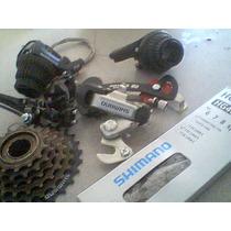 Cadena Estrella Desviadores Puños 7 Pasos Shimano Bici