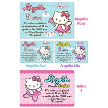 Invitaciones Cumpleaños Hello Kitty Personalizadas Fiesta