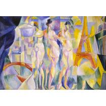 Lienzo Tela Robert Delaunay La Ville De Paris (2) 50 X 72 Cm