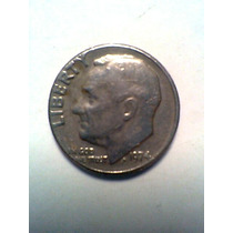 1 Dime Año 1974 Moneda De Estados Unidos De America