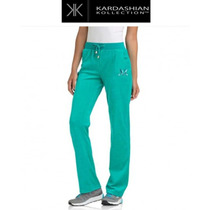 Pants 18w 1x Kardashian Collection Verde Velour Stretch Org.