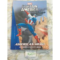 Ech69. Libro P/ Colorear Marvel Capitán América. Precio Unit