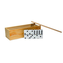 Domino Ingles (jumbo) De Acrílico En Caja De Madera, Doble 6