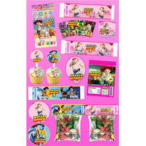 Kit Imprimible Vaquerita Jessie Personalizado 30 Etiquetas