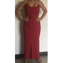 Vendo Lindo Vestido Color Rojo Largo De Fiesta Poco Uso