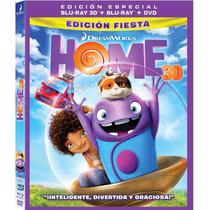Home No Hay Lugar Como El Hogar ( Bluray 3d + Bluray + Dvd )