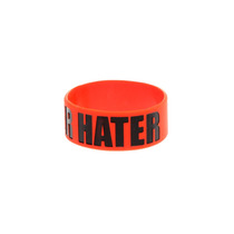Hot Topic Muñequera Pulsera Later Hater Rubber Bracelet