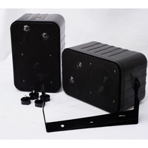 Duo Mini Bafles Sonido Ambiental Profesionales 300w Totales.