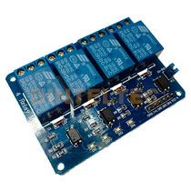 Modulo 4 Relevadores C/optocoplador Usa Arduino Hc05 Esp8266
