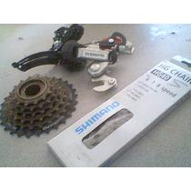 Estrella Cadena Desviadores 7 Pasos Shimano Bici Instaladas