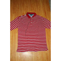 Playera Polo Tommy Hilfiger Golf Talla Xxl Roja Y Blanco