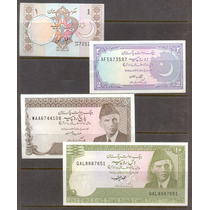 Coleccion De 4 Billetes De Paquistan