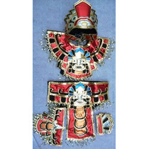Traje Azteca Danzantes Concheros Danza Prehispanica Fdp