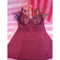 Victorias Secret Wine Mesh Luxury Bra Baby Doll Sz 36c
