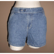 Canyon River Blues! Moderno Short De Mezclilla Rayada, T-11