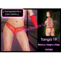 Set De 6 ¡¡¡ Sexy Mini Tanga Transparente Con Cierre Vmj