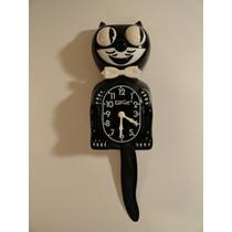 Reloj Forma Gato Gatito Kit Cat Clock Nueve Los Ojos Y Cola