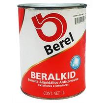 Pintura Esmalte Beralkid Amarillo Cromo (1 Lt) Berel