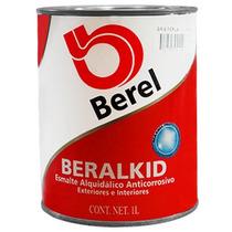Pintura Esmalte Beralkid Gris Perla (1 Lt) Berel