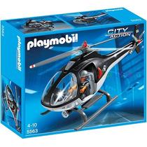 Playmobil 5563 Helicoptero De Policia !!