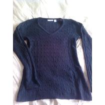 Sweater Azul Marino 100% Algodón T 36