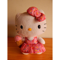 Hello Kitty Muñeco De Peluche Color Rosa Moño Y Nieve