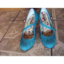 Zapatos Ozono Color Verde Aqua 25 Mx $350