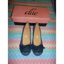 Zapatos Flats Due De Mezclilla 4 Mex P/dama