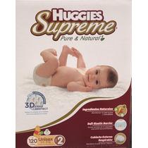 Huggies Supreme Pañales Etapa 2 Unisex 120 Piezas